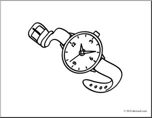watch clipart black and white 20 free Cliparts | Download ...