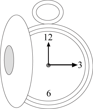 Black and White Pocket Watch Clip Art.