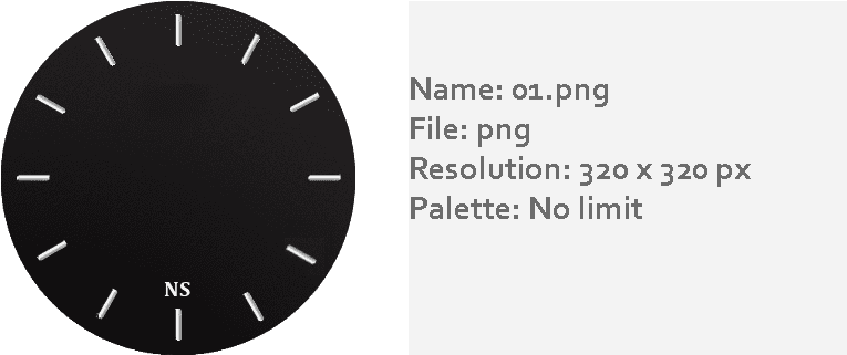 HD Watch Face Png.
