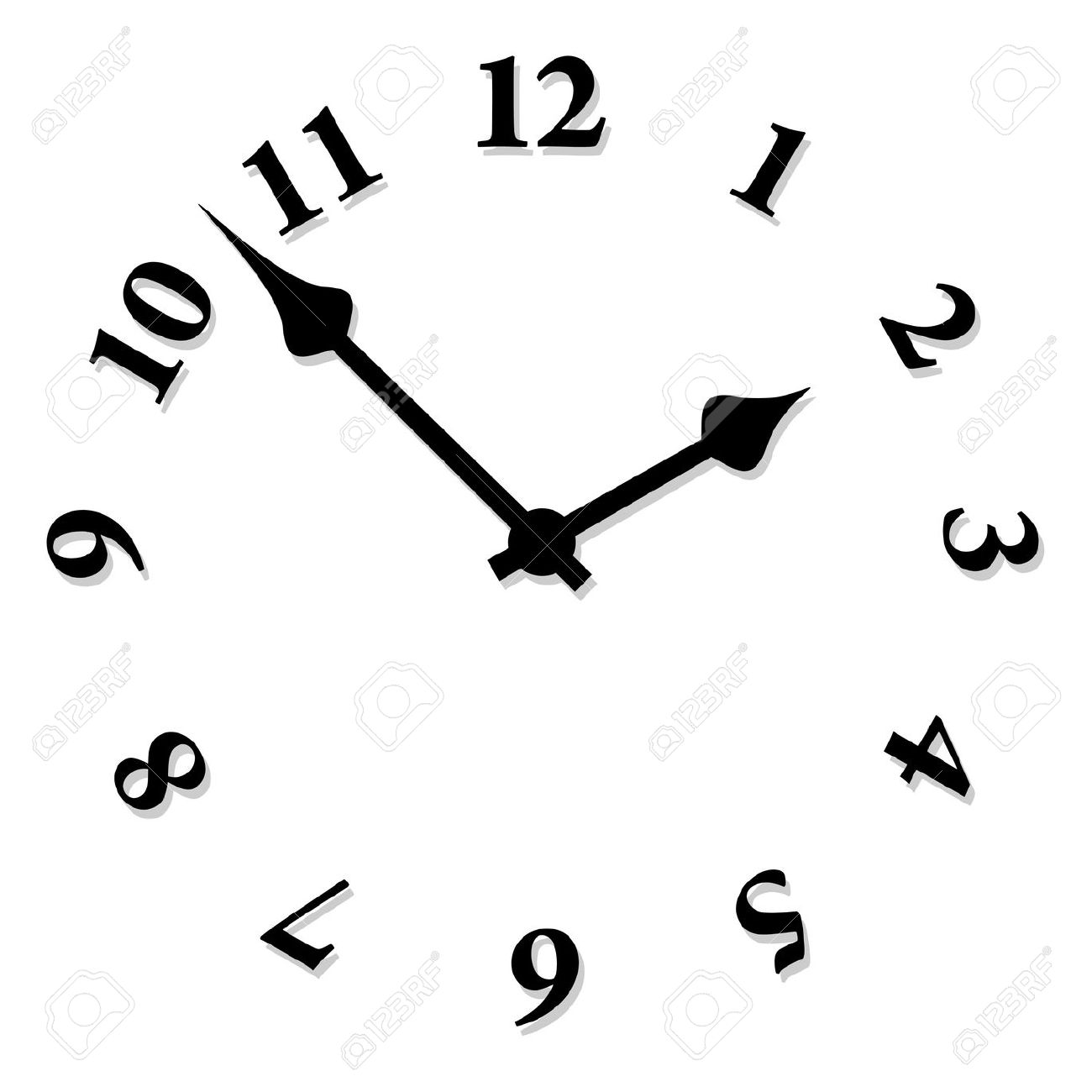 Vector Clock Face Royalty Free Cliparts, Vectors, And Stock.