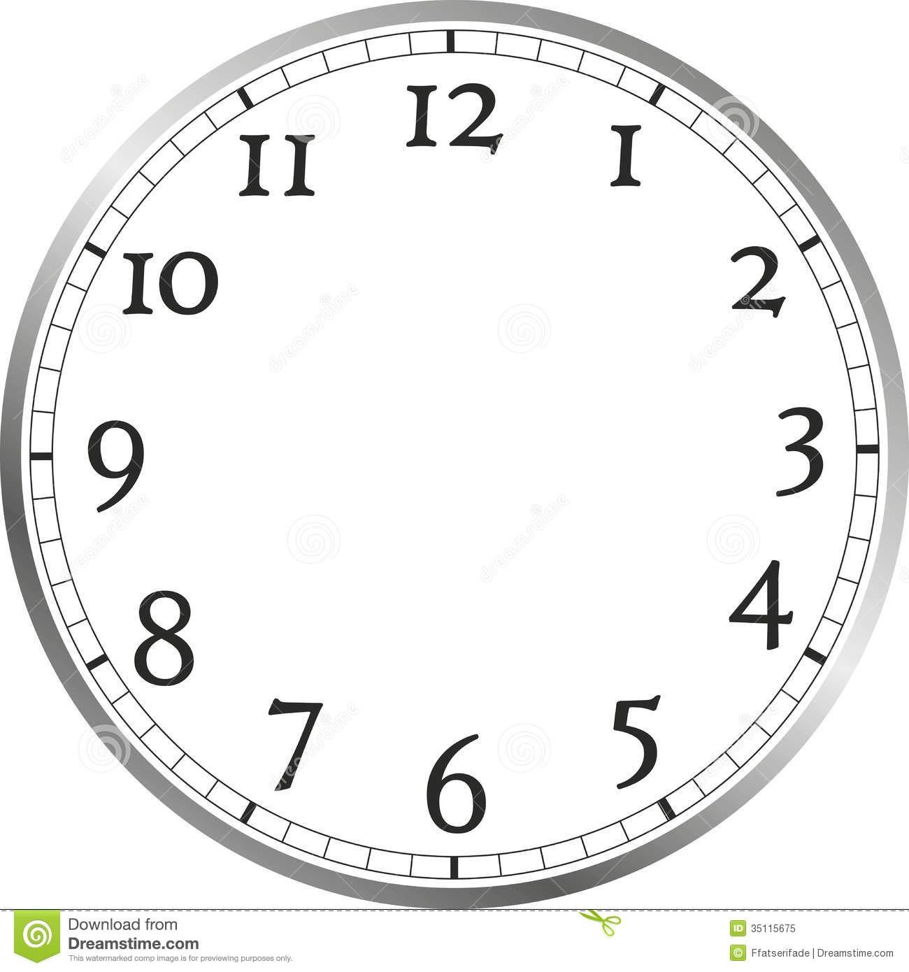 Watch face clip art.