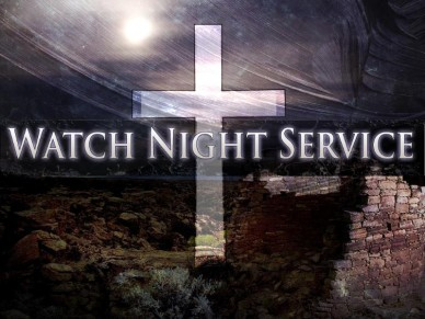 Watch Night with Cross and Ruins.