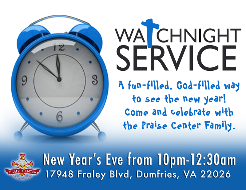2015 Watch Night Service and Anniversary Celebration.