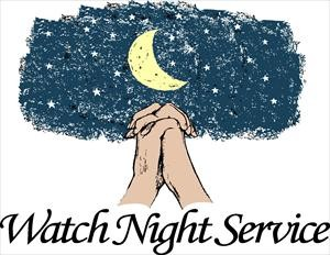 Watch Night Service Clip Art.