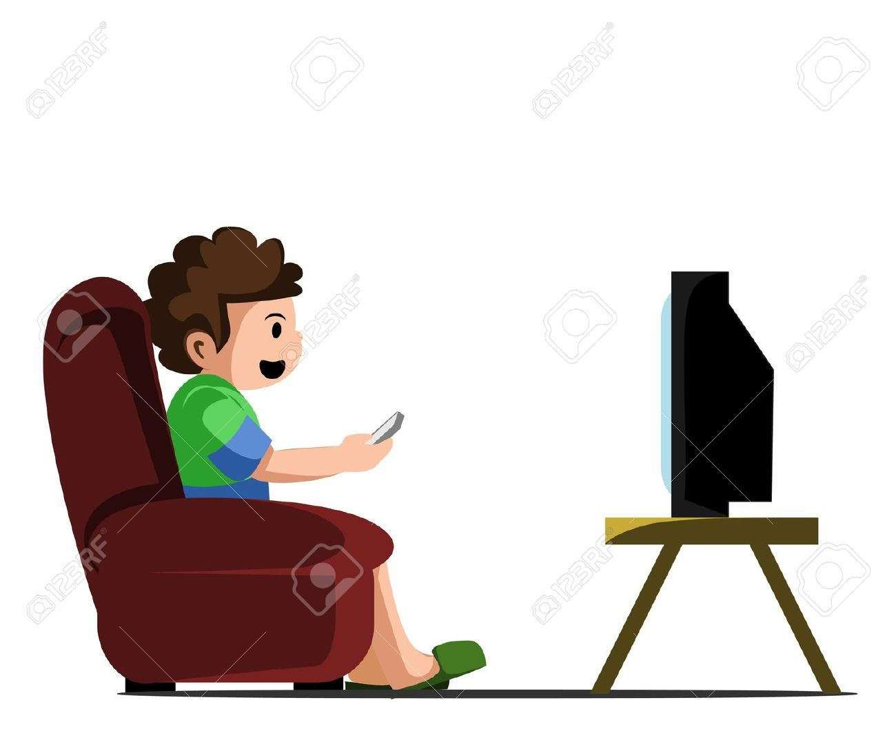 3,677 Watching Television Cliparts, Stock Vector And Royalty Free.