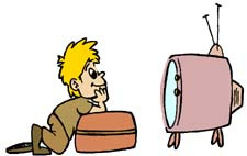Kids Watching Tv Clipart.
