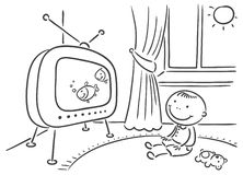 Free Watch Tv Clipart Black And White, Download Free Clip.