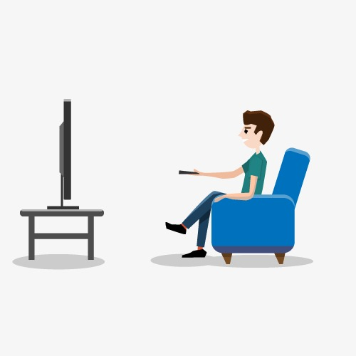 Png Man Watching Tv & Free Man Watching Tv.png Transparent.