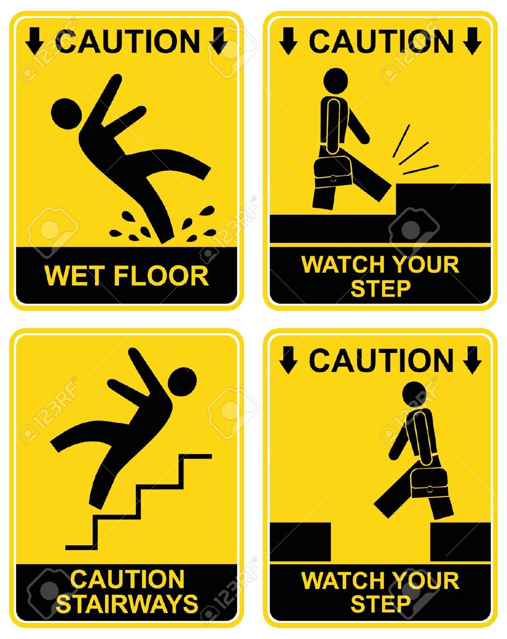 watch your step clipart #11