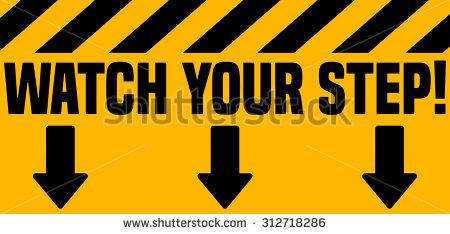 Watch Your Step Banque d'images, d'images et d'images vectorielles.