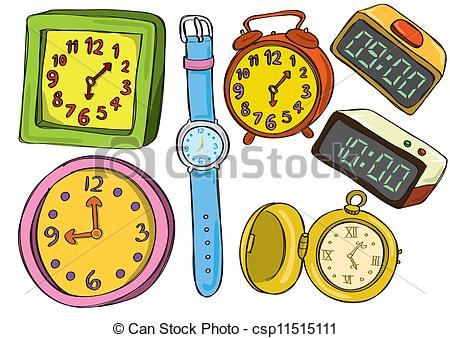Clipart Of Watches And Clocks.