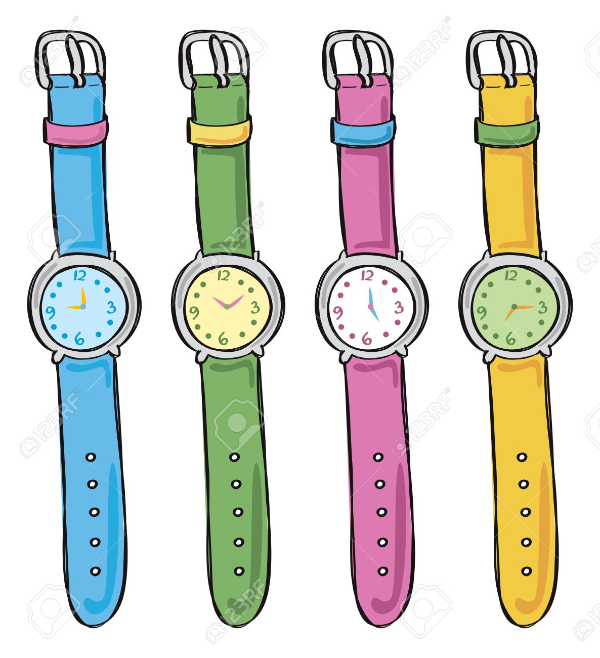 Wrist watches clipart.