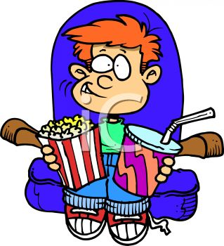 Watching a movie clipart 4 » Clipart Station.