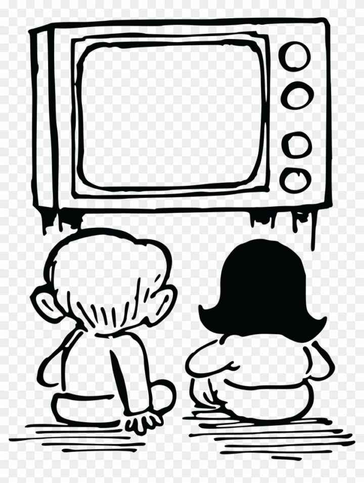 Free Clipart Of Kids Watching Tv Watch Tv Clipart Black And.