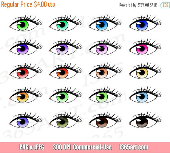50% OFF Eyes Clipart, Eyes Clip Art, Vision, Eyelashes, Watching.