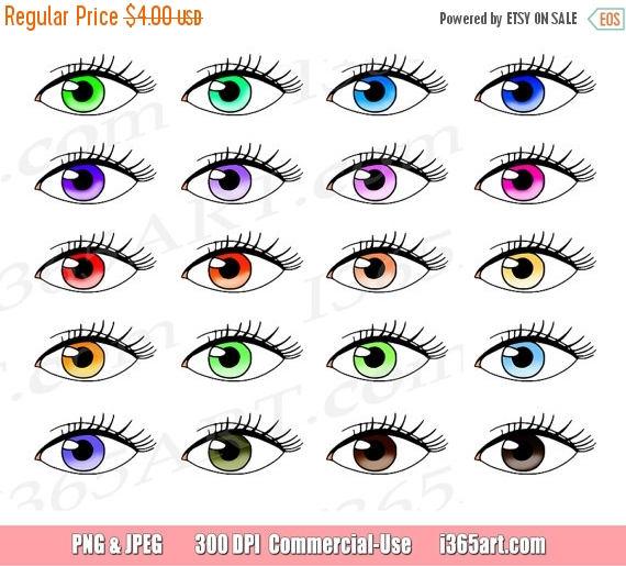 50% OFF Eyes Clipart, Eyes Clip Art, Vision, Eyelashes, Watching.