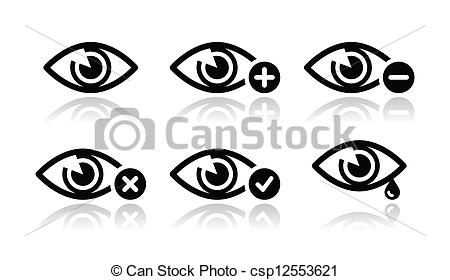 Vector Illustration of Eye sight icons set.