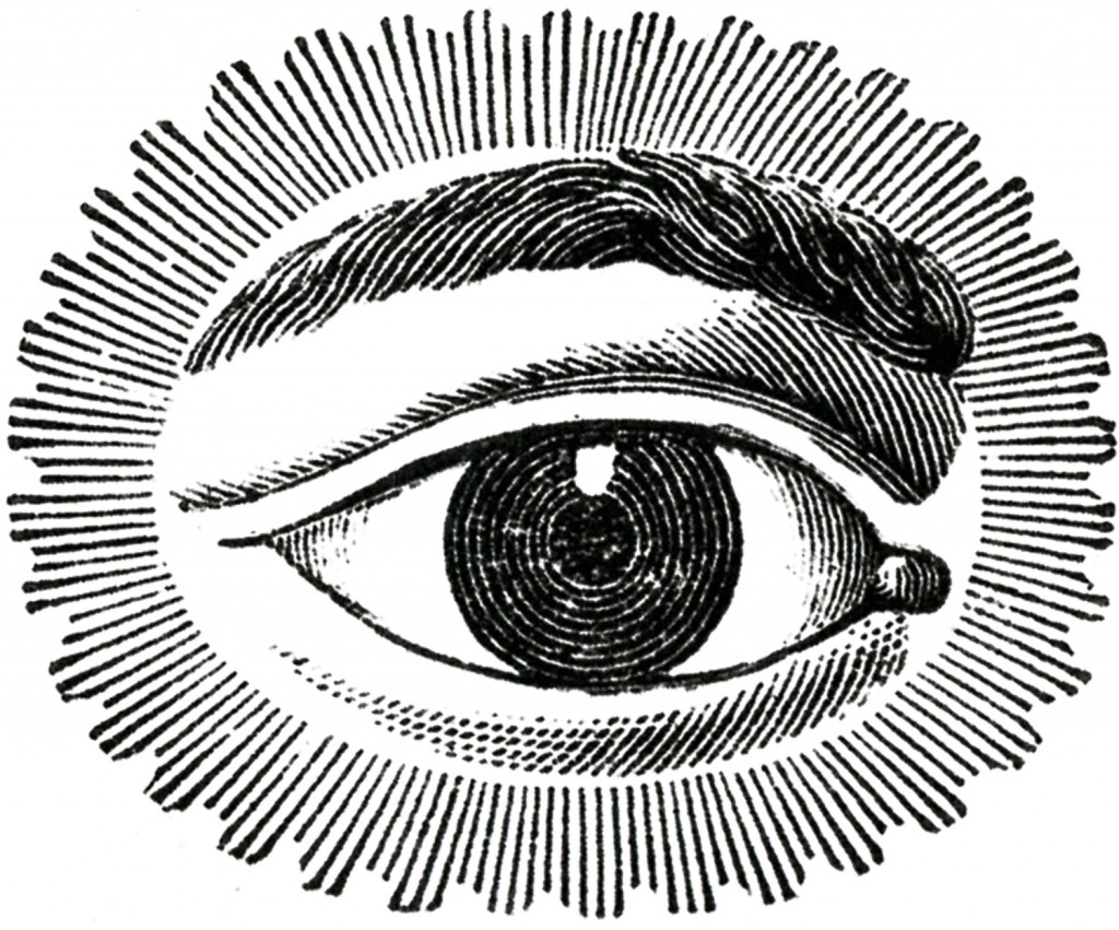 Free Public Domain Image Watching Eye.