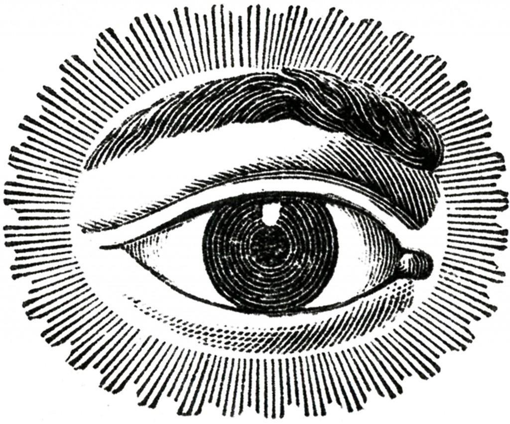 Free Public Domain Image Watching Eye.