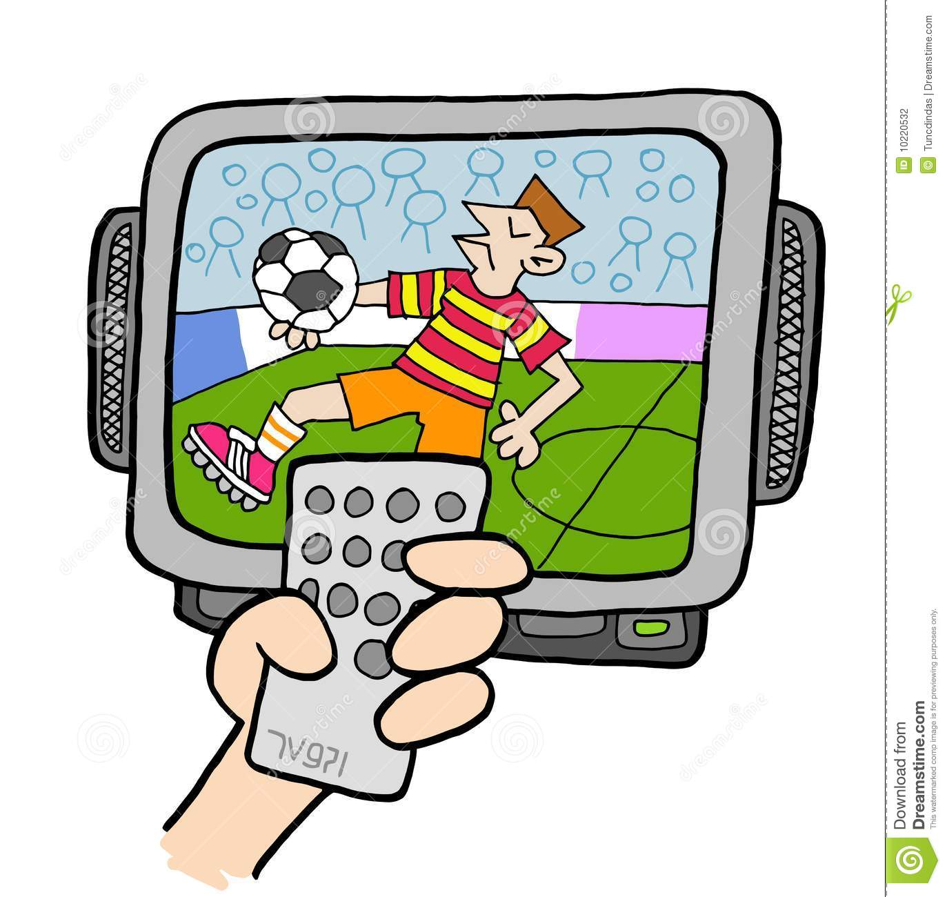 Watching Sports Clipart.