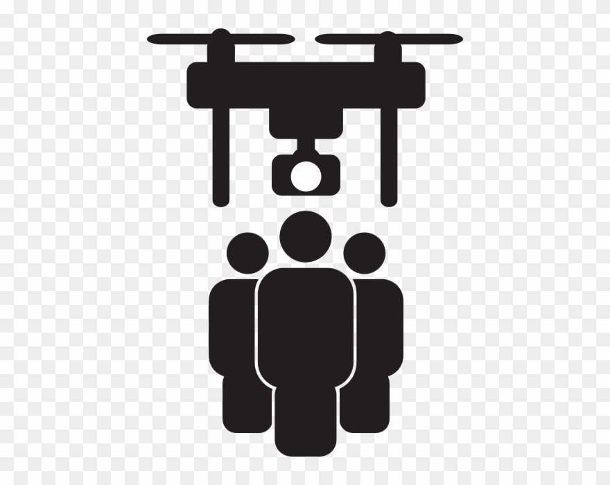 Drone Icon Design Free People Watch Out Distance Safe.