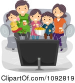 Family Movie Night Clipart#2133061.