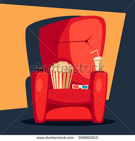 Watching Movie Stock Images, Royalty.