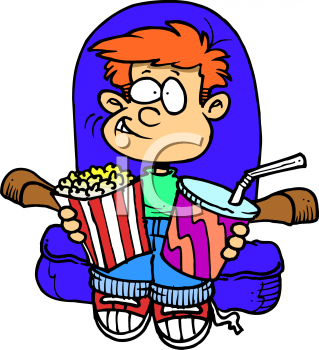 Watching Movies Clipart.