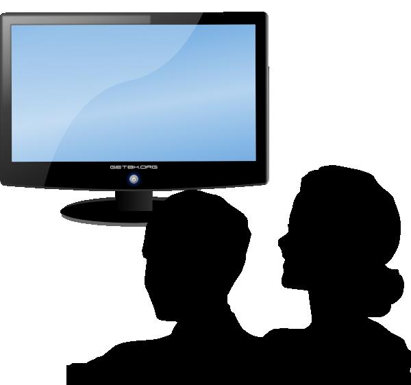 Man Watching Tv Clipart.