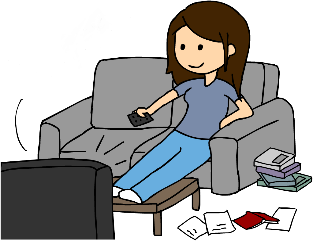 Watching T.v Clipart.