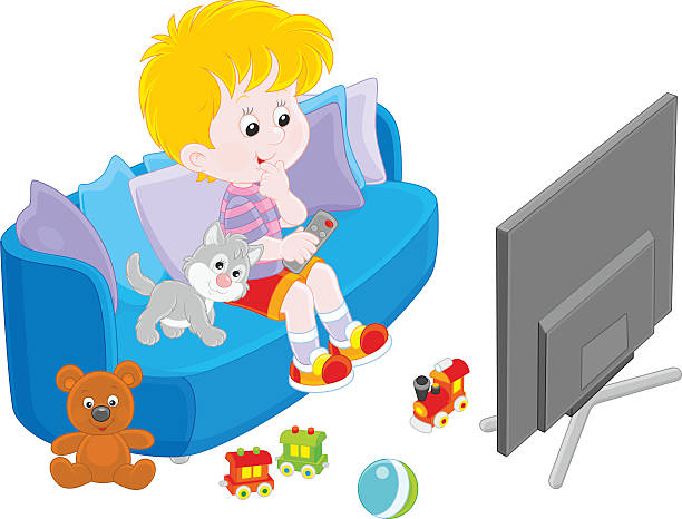 I Watch Tv Clipart.