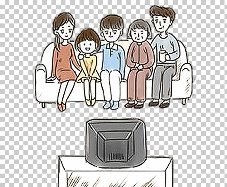 Cartoon Television Drawing Illustration, Cartoon family.