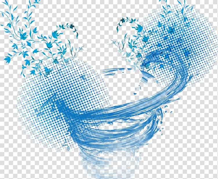 Blue abstract illustration, Water Tornado Spiral, tornado.