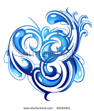 Vector Images, Illustrations and Cliparts: Water abstraction.