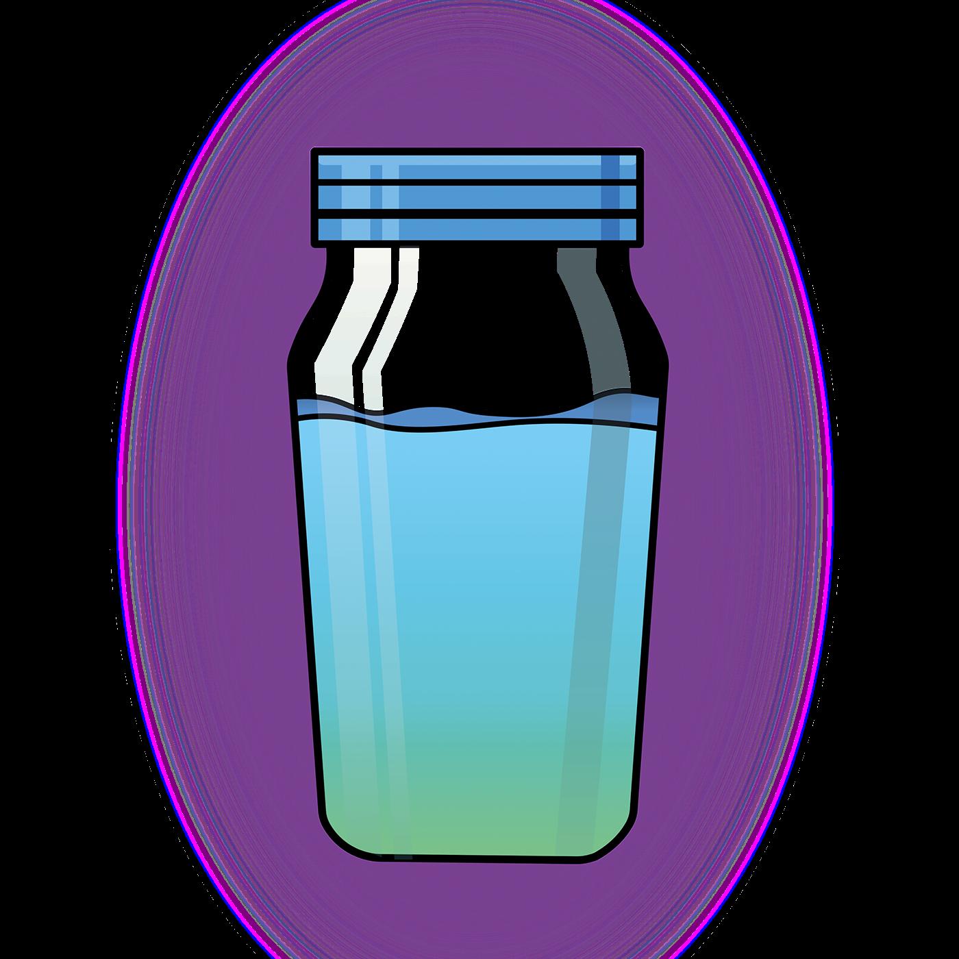Water Bottles Juice Graphic design.