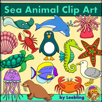 Sea Animal Clip Art.