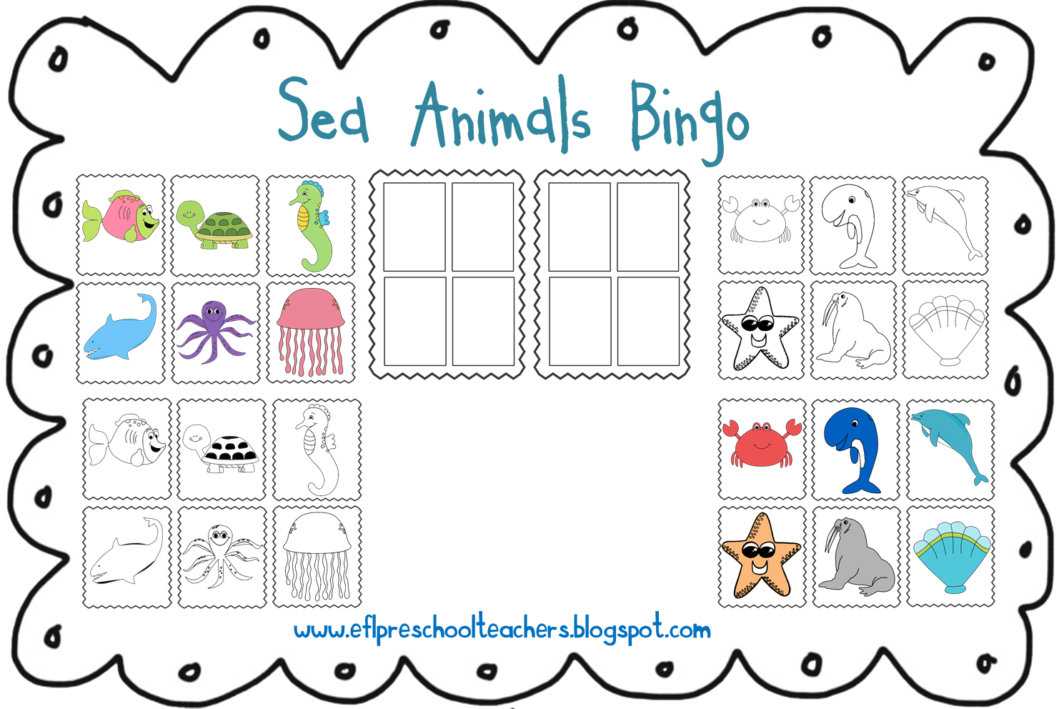 Sea Animals Clipart With Name.