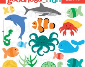 Water Animals Clipart With Names.