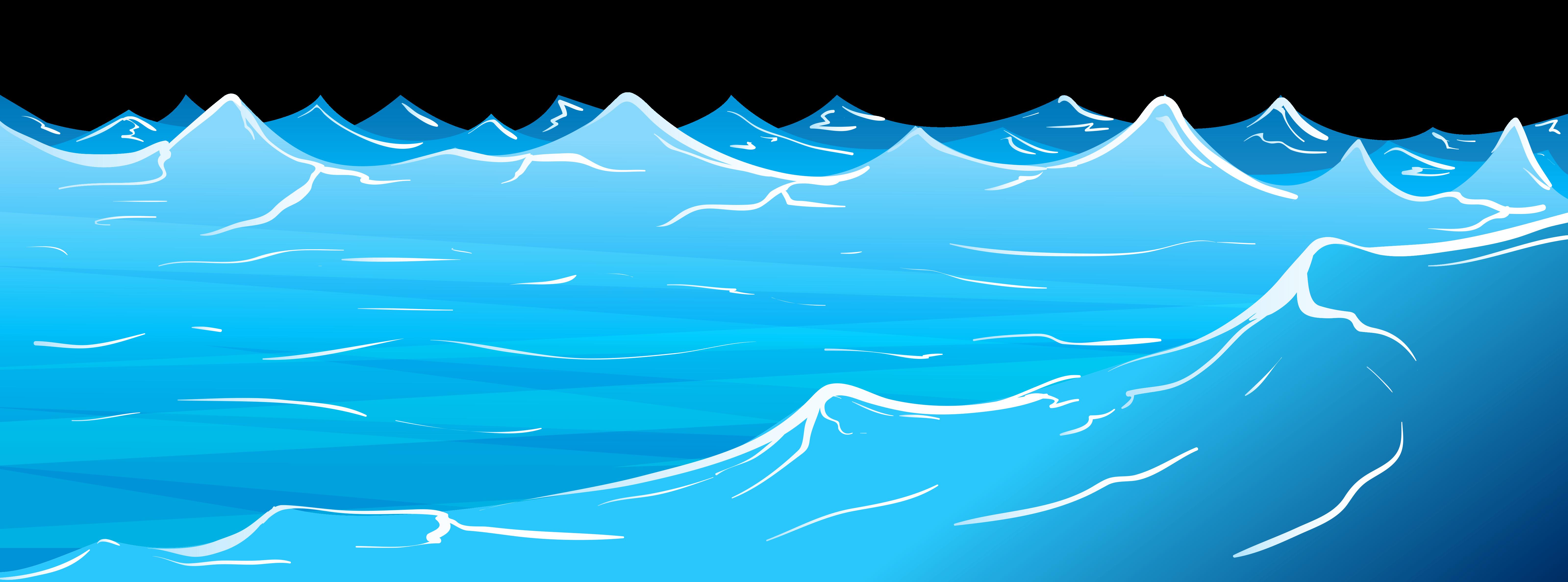 Ocean clipart transparent background.