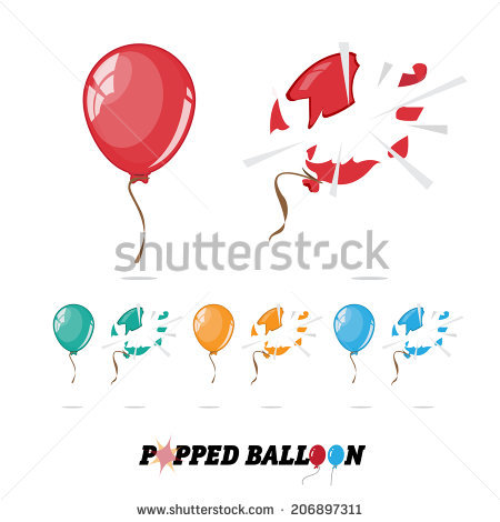 Balloon Burst Stock Images, Royalty.