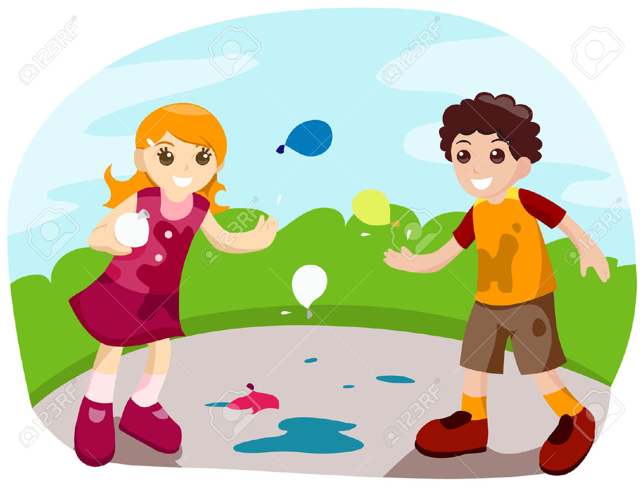Water Balloon Clipart.