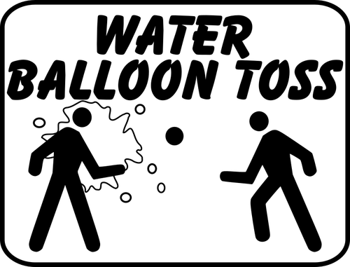 Water balloon signs.