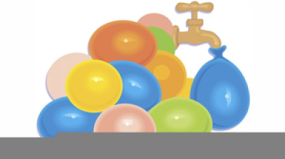 Water Balloon Toss Clipart Free PNG.