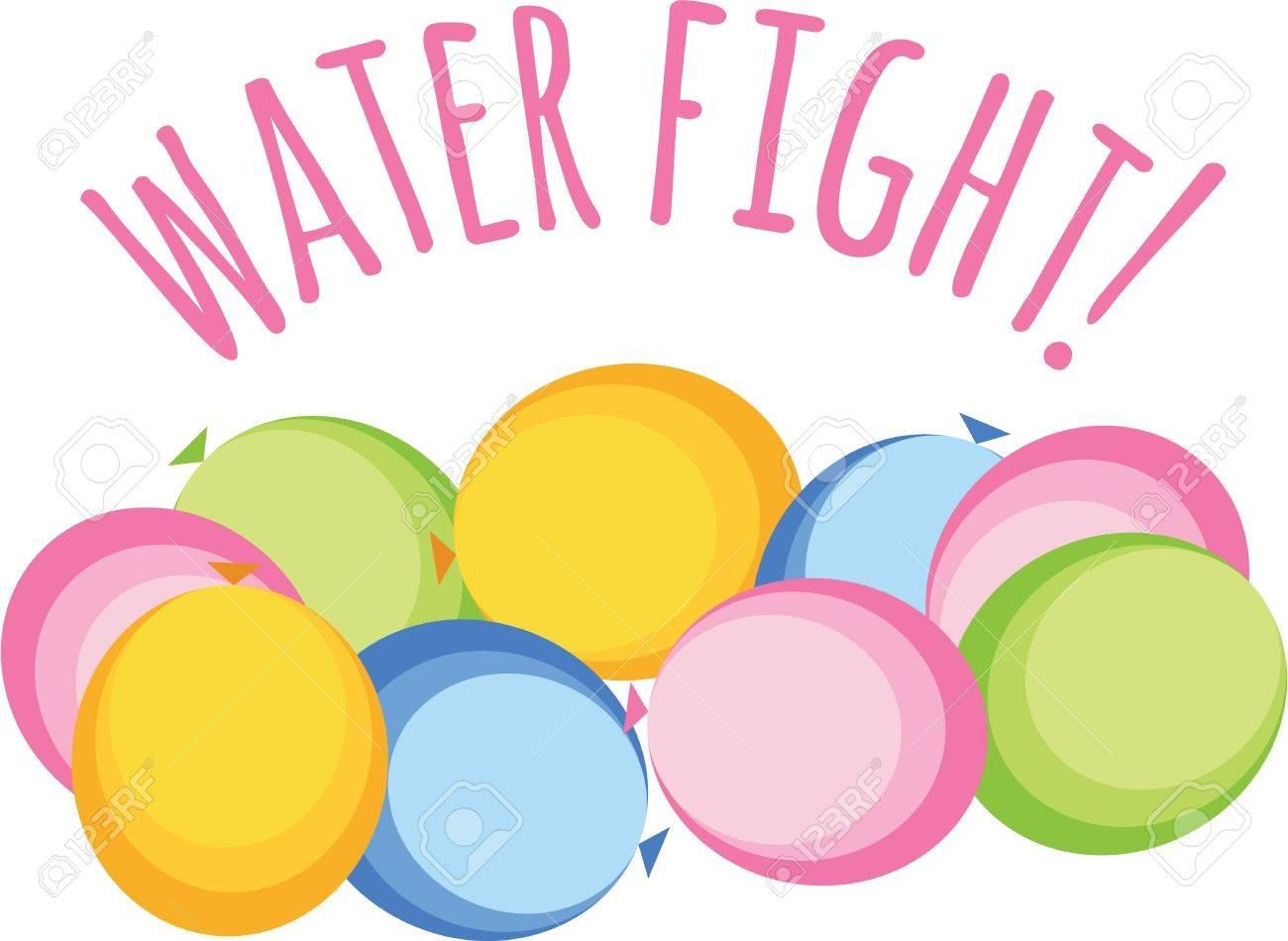 Water Balloon Fight Clipart (99+ Images #821972.