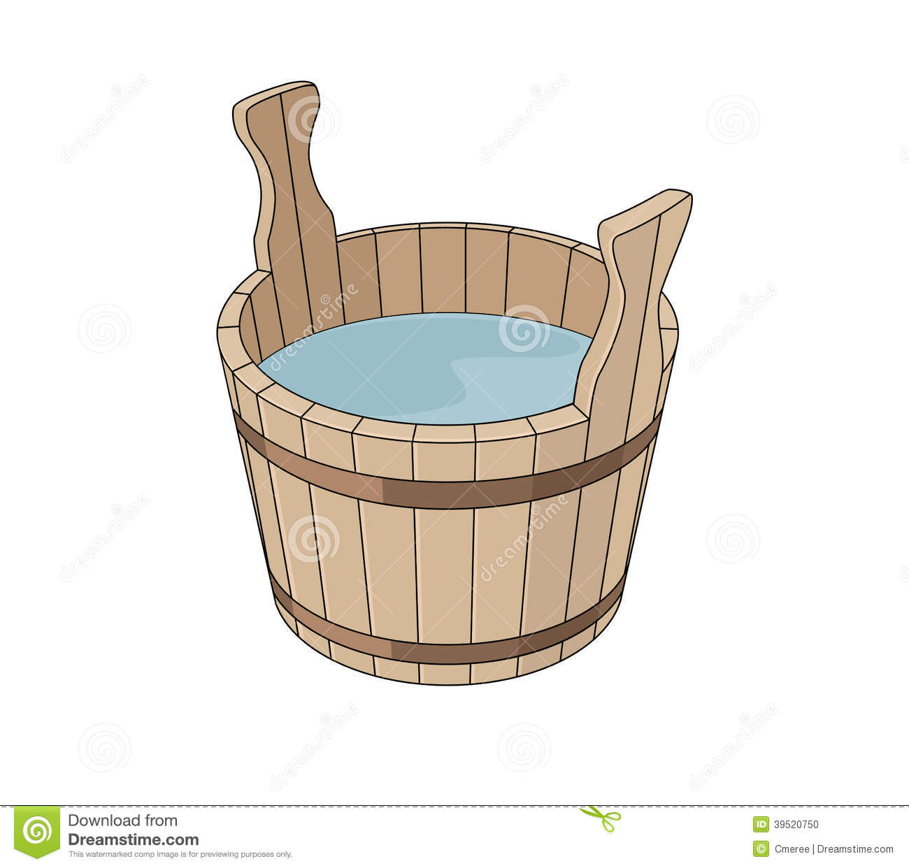 Water Basin Clipart.