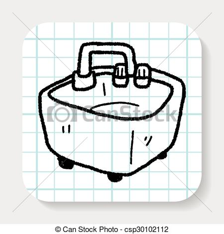 Vector Clip Art of water basin doodle csp30102112.