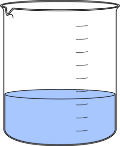 Beaker With Water Clipart.