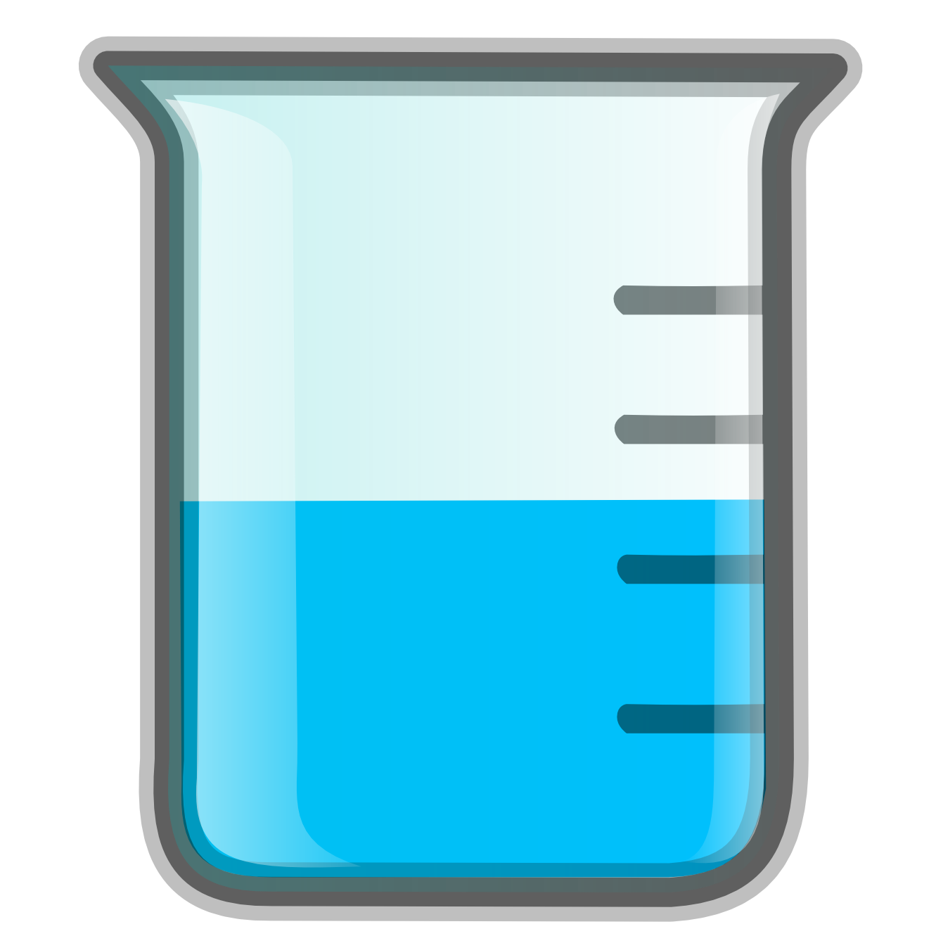 Water In Beaker Clipart.