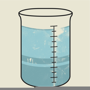 Water Beaker Clipart.