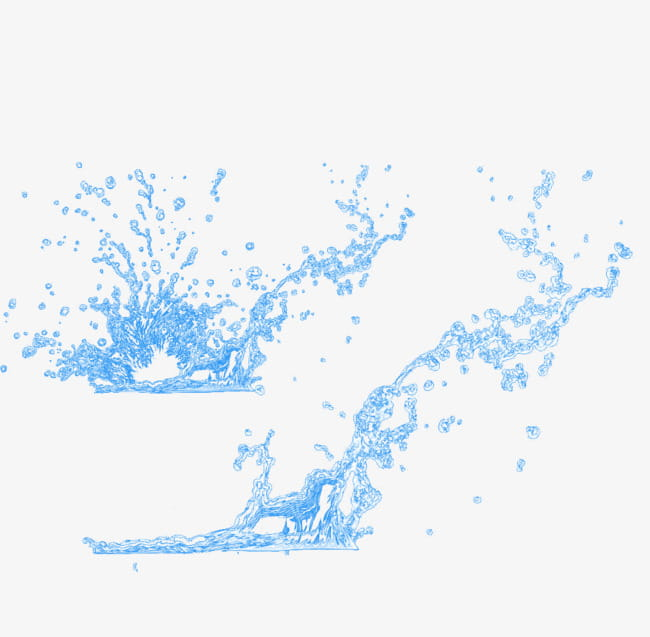 Floating material; sprayed water PNG clipart.